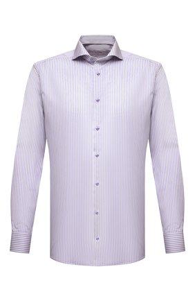 Мужская хлопковая сорочка ETON сиреневого цвета, арт. 1000 02058 | Фото 1 (Материал внешний: Хлопок; Рукава: Длинные; Длина (для топов): Стандартные; Случай: Формальный; Стили: Классический; Воротник: Акула; Рубашки М: Regular Fit; Принт: Полоска; Манжеты: На пуговицах)
