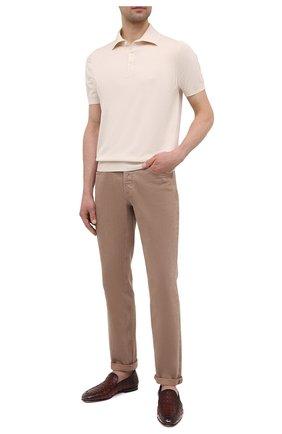 Мужские кожаные лоферы SANTONI бордового цвета, арт. MCNC17565SA3EGTHQ52 | Фото 2 (Материал внутренний: Натуральная кожа; Стили: Классический)