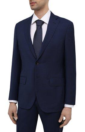 Мужской шерстяной костюм LUCIANO BARBERA темно-синего цвета, арт. 5R2014/25021 | Фото 2