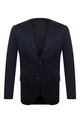 Мужской хлопковый пиджак ELEVENTY темно-синего цвета, арт. C75GIAC13 TES0C079 | Фото 1