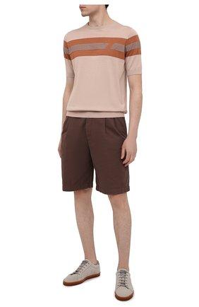 Мужские замшевые кеды BRUNELLO CUCINELLI светло-серого цвета, арт. MZUCTBN268 | Фото 2 (Материал внутренний: Натуральная кожа; Подошва: Плоская; Материал внешний: Замша)