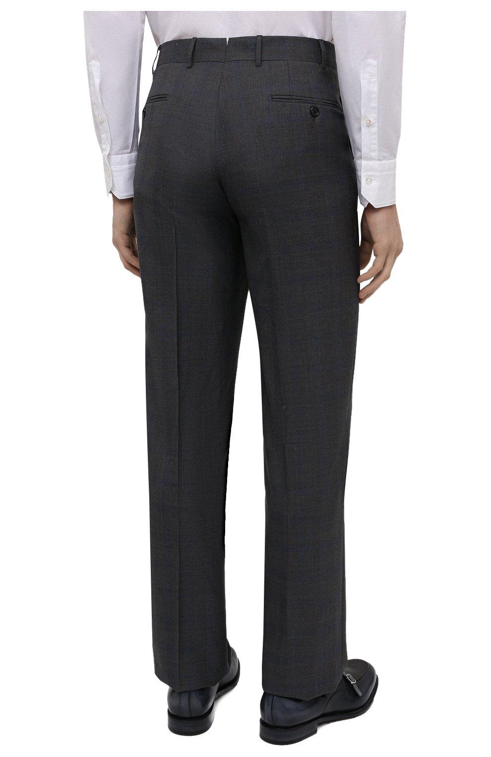 Мужской шерстяной костюм CORNELIANI темно-серого цвета, арт. 877315-1117220/92 Q1   Фото 5 (Материал внешний: Шерсть; Рукава: Длинные; Костюмы М: Однобортный; Стили: Классический; Материал подклада: Купро)