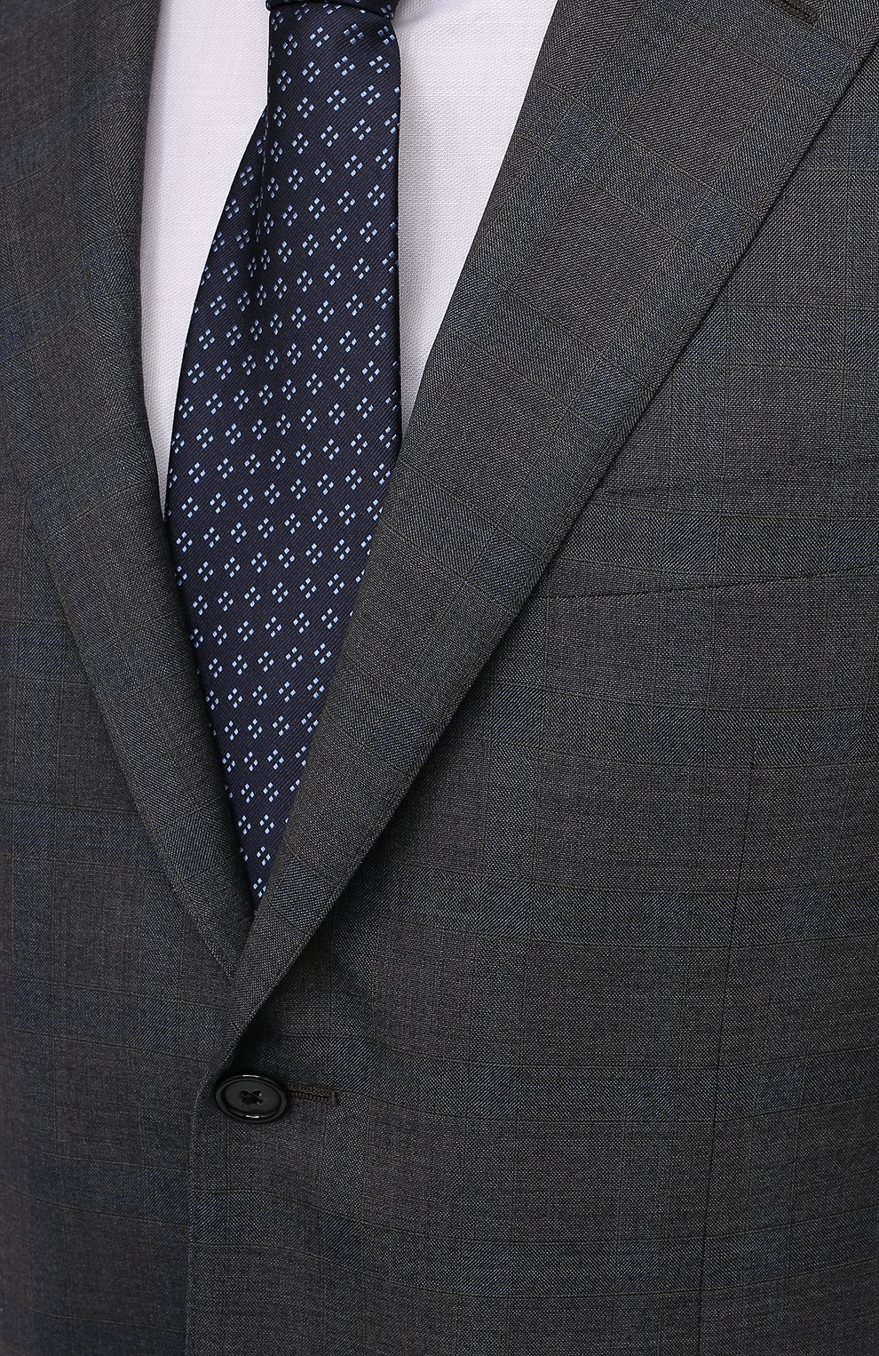 Мужской шерстяной костюм CORNELIANI темно-серого цвета, арт. 877315-1117220/92 Q1   Фото 6 (Материал внешний: Шерсть; Рукава: Длинные; Костюмы М: Однобортный; Стили: Классический; Материал подклада: Купро)