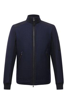 Мужская куртка изо льна и шерсти BOGNER темно-синего цвета, арт. 38646777 | Фото 1