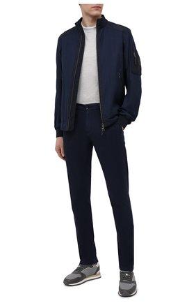Мужская куртка изо льна и шерсти BOGNER темно-синего цвета, арт. 38646777 | Фото 2