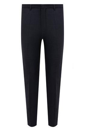 Мужские шерстяные брюки HUGO темно-синего цвета, арт. 50450697   Фото 1 (Материал внешний: Шерсть; Длина (брюки, джинсы): Стандартные; Случай: Формальный; Стили: Классический)