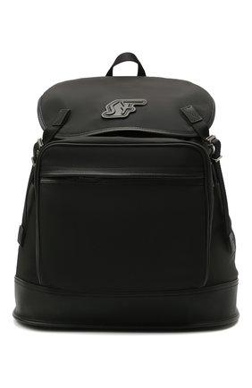 Мужской комбинированный рюкзак SALVATORE FERRAGAMO черного цвета, арт. Z-0742701   Фото 1