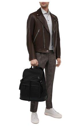 Мужской комбинированный рюкзак SALVATORE FERRAGAMO черного цвета, арт. Z-0742701   Фото 2