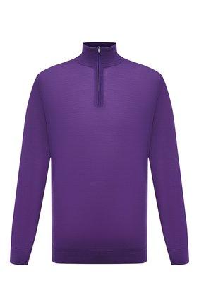 Мужской шерстяной джемпер LUCIANO BARBERA фиолетового цвета, арт. 109879/53214/58-62 | Фото 1