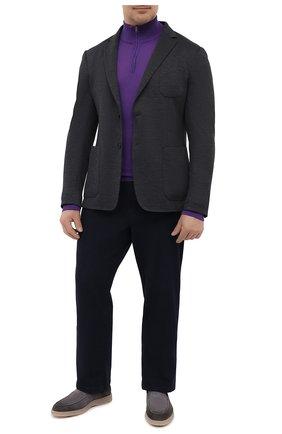 Мужской шерстяной джемпер LUCIANO BARBERA фиолетового цвета, арт. 109879/53214/58-62 | Фото 2