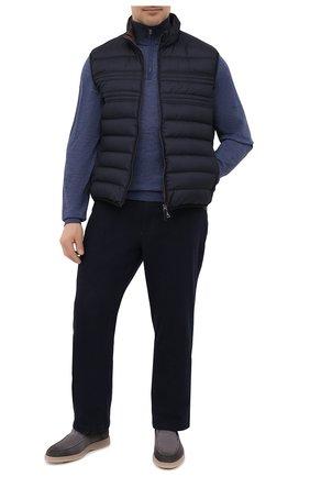 Мужской шерстяной джемпер LUCIANO BARBERA синего цвета, арт. 109879/53214/58-62 | Фото 2