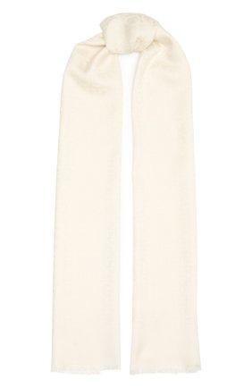 Женский шарф из шелка и шерсти SALVATORE FERRAGAMO светло-бежевого цвета, арт. Z-0725370   Фото 1