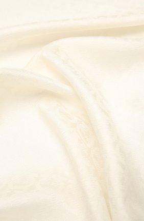 Женский шарф из шелка и шерсти SALVATORE FERRAGAMO светло-бежевого цвета, арт. Z-0725370   Фото 2
