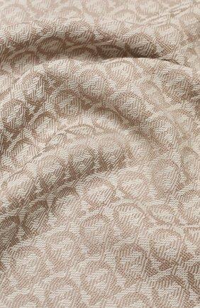 Женский шерстяной шарф SALVATORE FERRAGAMO бежевого цвета, арт. Z-0736640   Фото 2