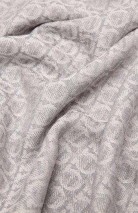 Женский шерстяной шарф SALVATORE FERRAGAMO серого цвета, арт. Z-0736641   Фото 2