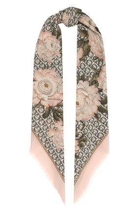 Женская шерстяная шаль SALVATORE FERRAGAMO светло-розового цвета, арт. Z-0717601   Фото 1