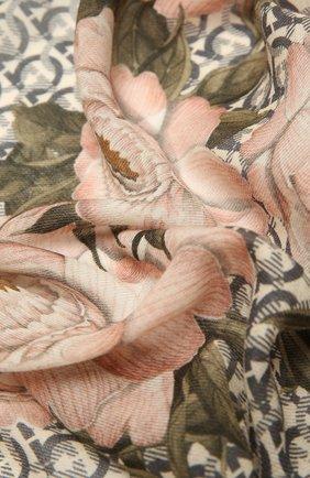 Женская шерстяная шаль SALVATORE FERRAGAMO светло-розового цвета, арт. Z-0717601   Фото 2