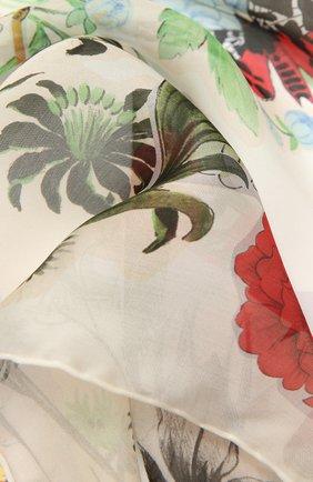 Женский шелковый шарф SALVATORE FERRAGAMO зеленого цвета, арт. Z-0737709   Фото 2