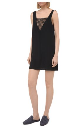 Женская шелковая сорочка CHANTAL THOMASS черного цвета, арт. T09D80 | Фото 2