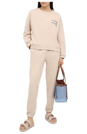 Женский хлопковый костюм SEVEN LAB светло-бежевого цвета, арт. SWP20-CYPN beige   Фото 1