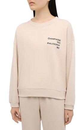 Женский хлопковый костюм SEVEN LAB светло-бежевого цвета, арт. SWP20-CYPN beige   Фото 2