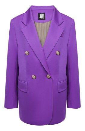 Женский шерстяной жакет JM STUDIO фиолетового цвета, арт. JMSS2101   Фото 1
