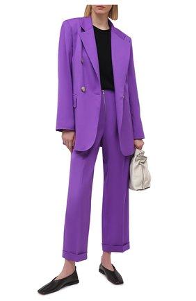 Женский шерстяной жакет JM STUDIO фиолетового цвета, арт. JMSS2101   Фото 2
