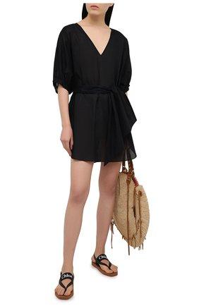 Женская хлопковая туника AUBADE черного цвета, арт. TZ69   Фото 2