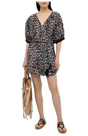 Женская хлопковая туника AUBADE леопардового цвета, арт. TZ69 | Фото 2