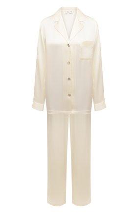 Женская шелковая пижама LUNA DI SETA белого цвета, арт. VLST08007 | Фото 1