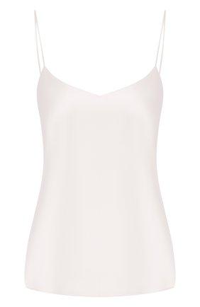Женская шелковый топ LUNA DI SETA белого цвета, арт. VLST08005 | Фото 1