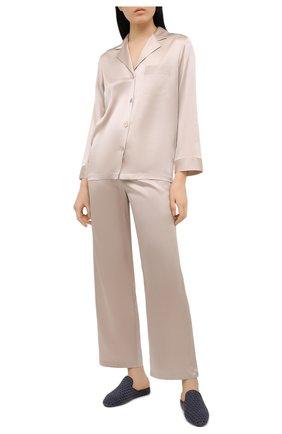 Женская шелковая пижама LUNA DI SETA бежевого цвета, арт. VLST08007 | Фото 1