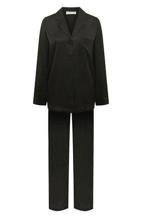 Женская шелковая пижама LUNA DI SETA черного цвета, арт. VLST08007 | Фото 1