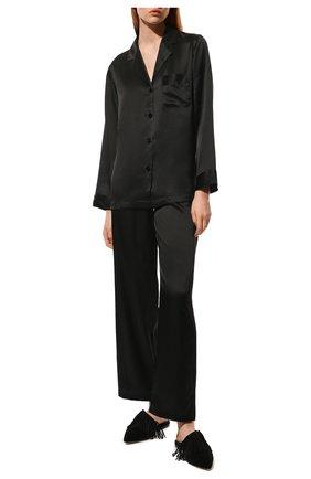 Женская шелковая пижама LUNA DI SETA черного цвета, арт. VLST08007 | Фото 2