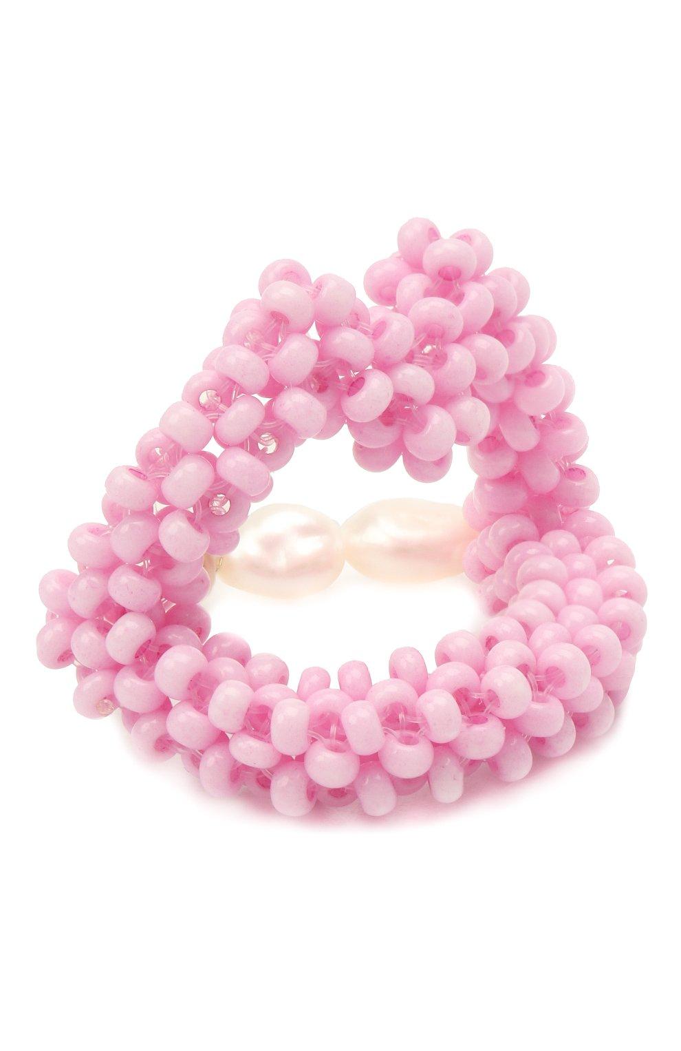 Женское кольцо губы HIAYNDERFYT розового цвета, арт. 1401.122   Фото 1 (Материал: Стекло)