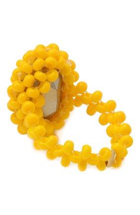 Женское кольцо мария антуанетта HIAYNDERFYT желтого цвета, арт. 1401.111 | Фото 2 (Материал: Стекло)