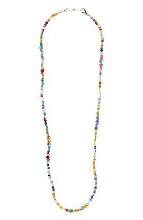 Женское колье детский сад HIAYNDERFYT разноцветного цвета, арт. 1421.525 | Фото 1 (Материал: Стекло)