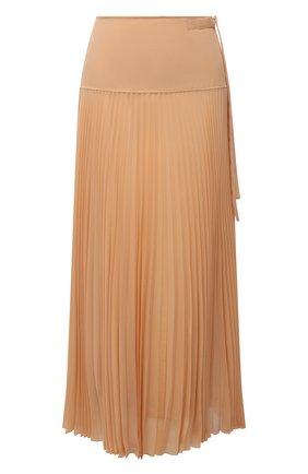 Женская плиссированная юбка CHLOÉ бежевого цвета, арт. CHC21SJU17023 | Фото 1