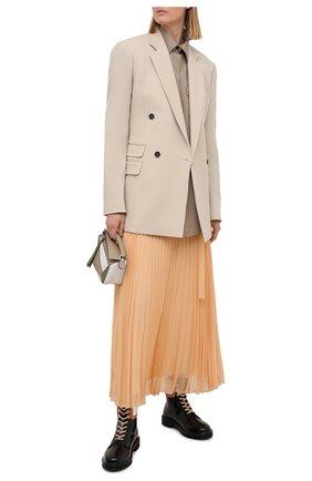 Женская плиссированная юбка CHLOÉ бежевого цвета, арт. CHC21SJU17023 | Фото 2