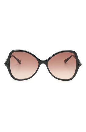 Женские солнцезащитные очки CHLOÉ черного цвета, арт. CH0001S | Фото 3