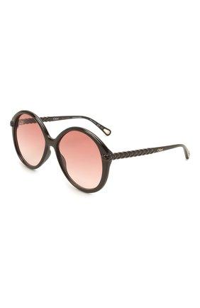 Женские солнцезащитные очки CHLOÉ черного цвета, арт. CH0002S | Фото 1