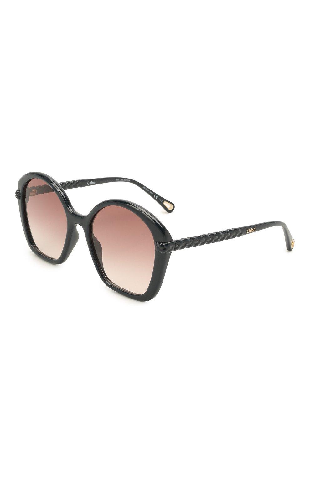 Женские солнцезащитные очки CHLOÉ темно-синего цвета, арт. CH0003S   Фото 1
