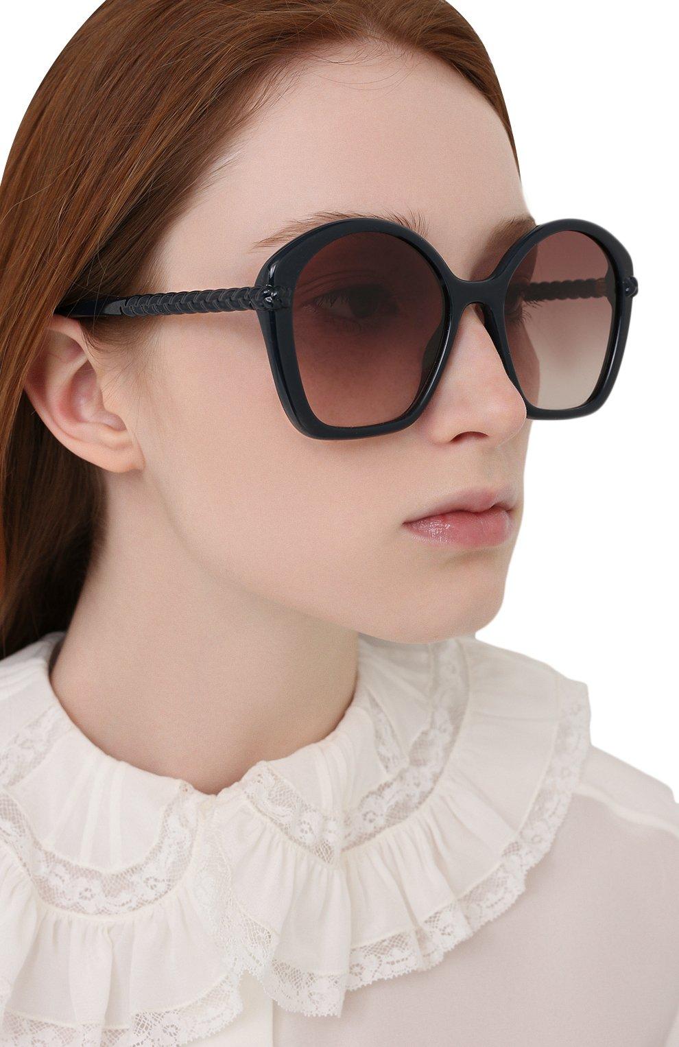 Женские солнцезащитные очки CHLOÉ темно-синего цвета, арт. CH0003S   Фото 2