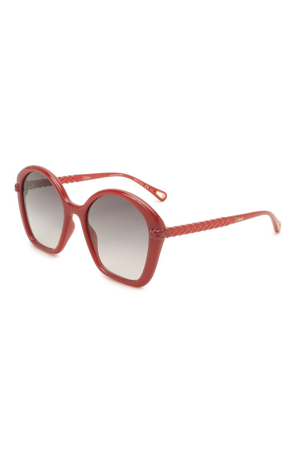 Женские солнцезащитные очки CHLOÉ красного цвета, арт. CH0003S | Фото 1