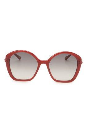 Женские солнцезащитные очки CHLOÉ красного цвета, арт. CH0003S | Фото 3