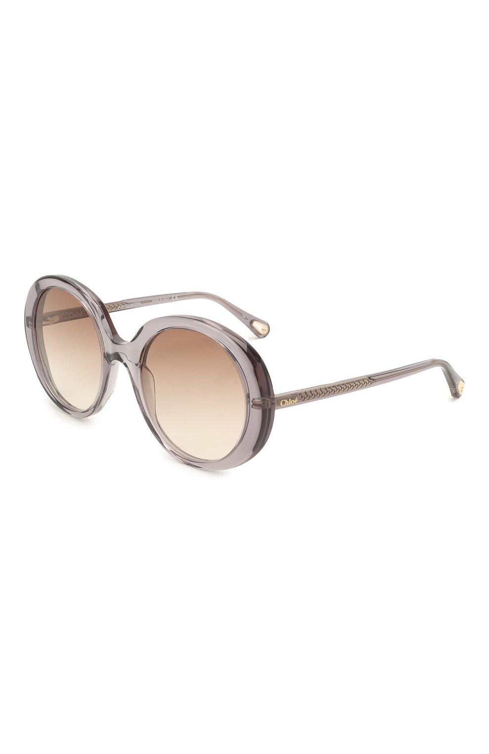 Женские солнцезащитные очки CHLOÉ серого цвета, арт. CH0007S   Фото 1