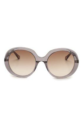 Женские солнцезащитные очки CHLOÉ серого цвета, арт. CH0007S   Фото 3