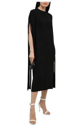 Женские кожаные босоножки rudie BALMAIN белого цвета, арт. VN0UH577/LGDT | Фото 2 (Материал внутренний: Натуральная кожа; Каблук высота: Высокий; Подошва: Плоская; Каблук тип: Шпилька)