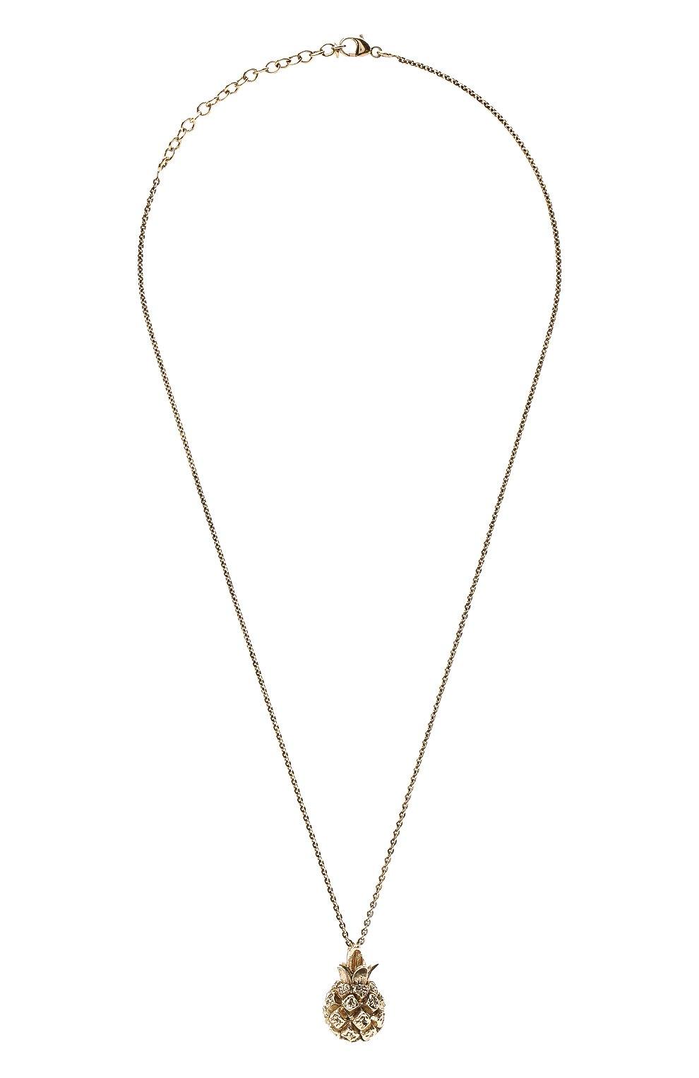 Женское кулон на цепочке SAINT LAURENT золотого цвета, арт. 646060/Y1500 | Фото 1