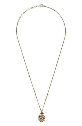 Женская кулон на цепочке SAINT LAURENT золотого цвета, арт. 646060/Y1500 | Фото 1 (Материал: Металл)
